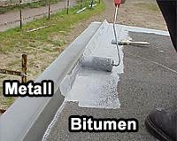 Extrem Bitumendach abdichten, sanieren. Bitumendachbeschichtung Abdichtung SW82